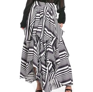 TOV Holy Black and White Maxi Skirt
